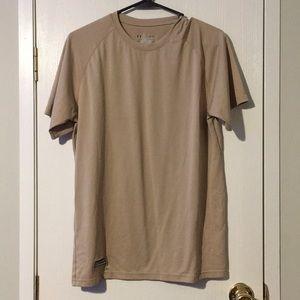 Men's UnderArmour tan tactical shirt